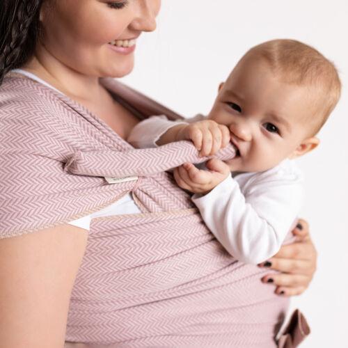 TRAGETUCH ACCESSOIRE: Baby-Nackenrolle mit Knopfgummi